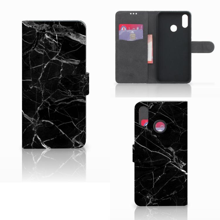 Huawei P Smart Plus Bookcase Marmer Zwart