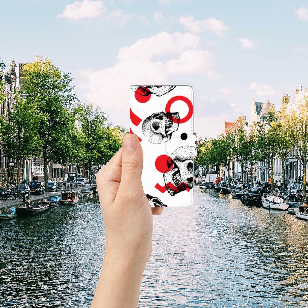 Samsung Galaxy S5 | S5 Neo Boekhoesje Design Skull Red