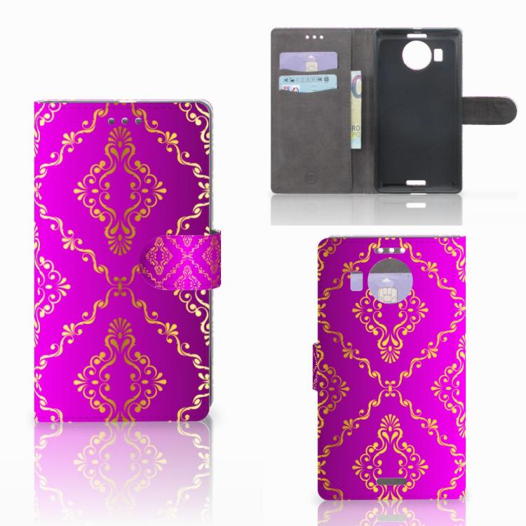 Wallet Case Microsoft Lumia 950 XL Barok Roze