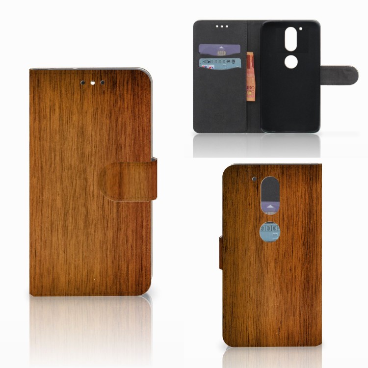 Motorola Moto G4 | G4 Plus Book Style Case Donker Hout