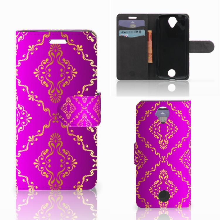 Wallet Case Acer Liquid Z330 Barok Roze