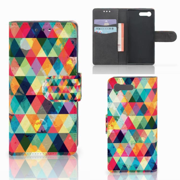 Sony Xperia X Compact Telefoon Hoesje Geruit