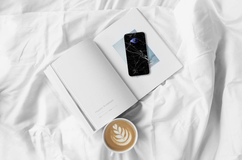 HTC U11 Life TPU Siliconen Hoesje Marmer Zwart - Origineel Cadeau Vader