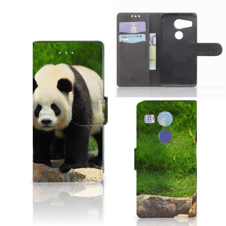 LG Nexus 5X Telefoonhoesje met Pasjes Panda