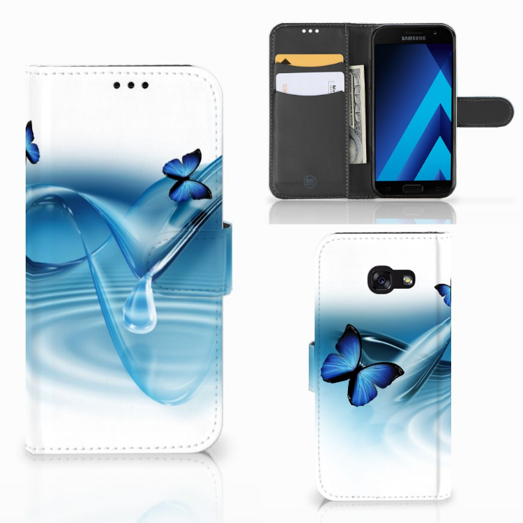 Samsung Galaxy A5 2017 Telefoonhoesje met Pasjes Vlinders