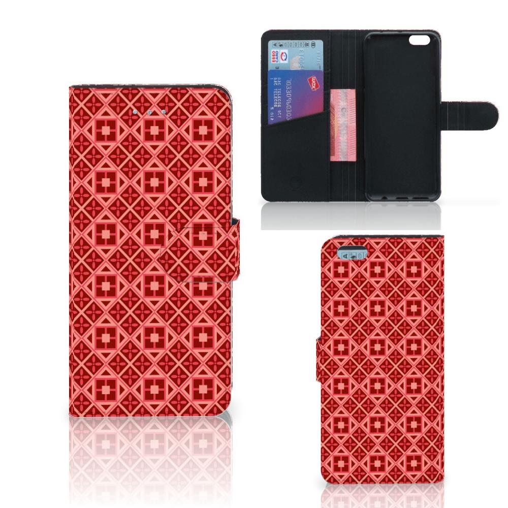 Apple iPhone 6 Plus | 6s Plus Telefoon Hoesje Batik Rood