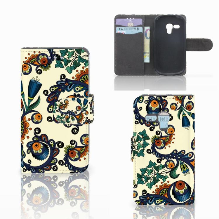 Wallet Case Samsung Galaxy S3 Mini Barok Flower