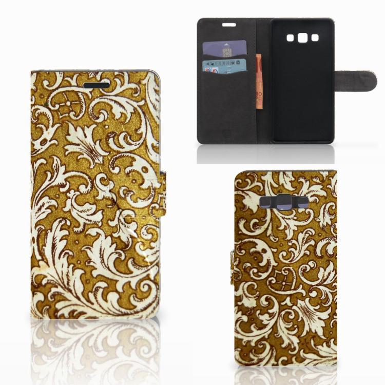 Wallet Case Samsung Galaxy A7 2015 Barok Goud