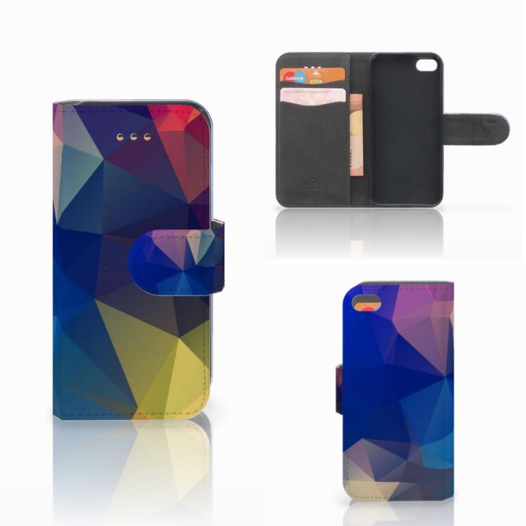 Apple iPhone 5C Bookcase Polygon Dark