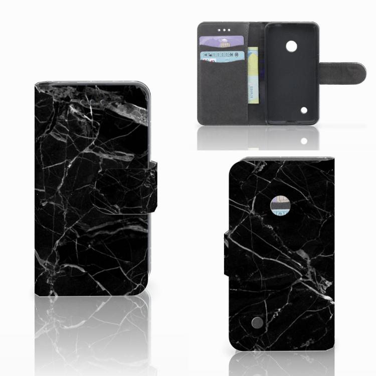 Nokia Lumia 530 Bookcase Marmer Zwart
