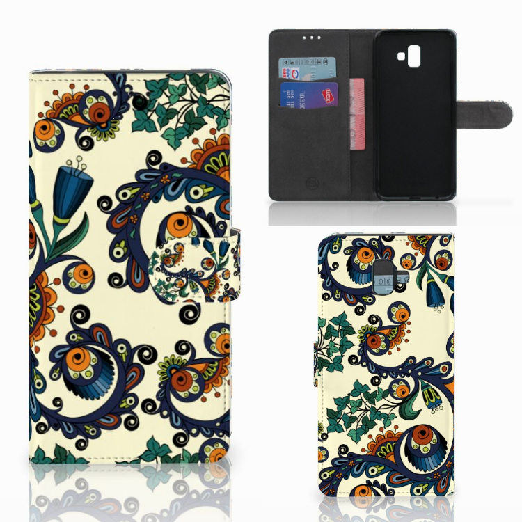 Wallet Case Samsung Galaxy J6 Plus (2018) Barok Flower