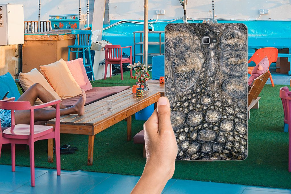 Samsung Galaxy Tab A 10.1 Back Case Krokodillenprint