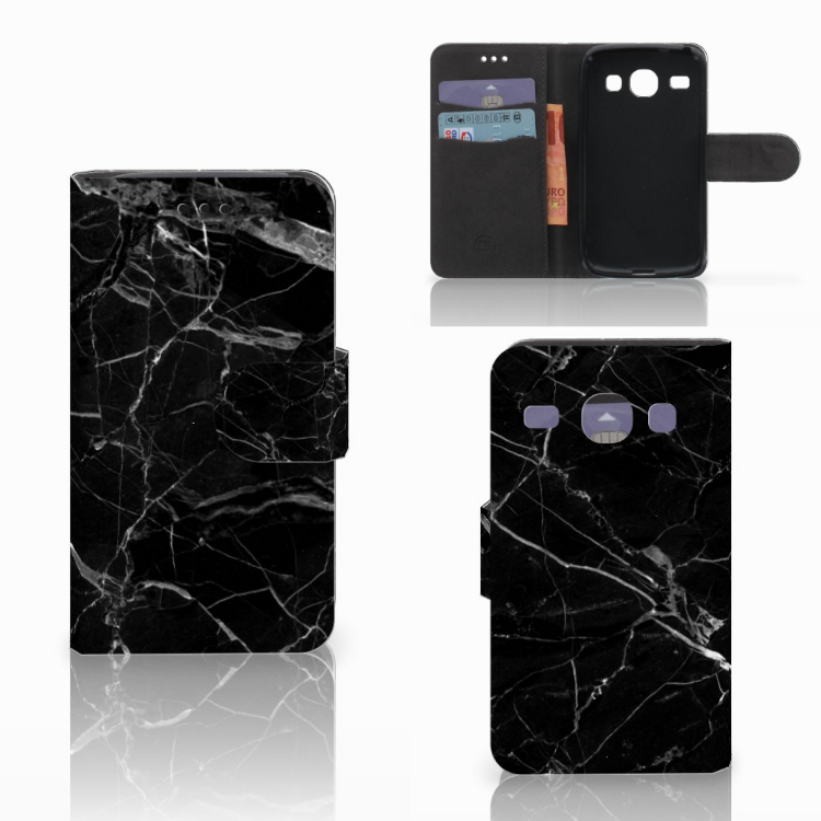 Samsung Galaxy Core i8260 Bookcase Marmer Zwart