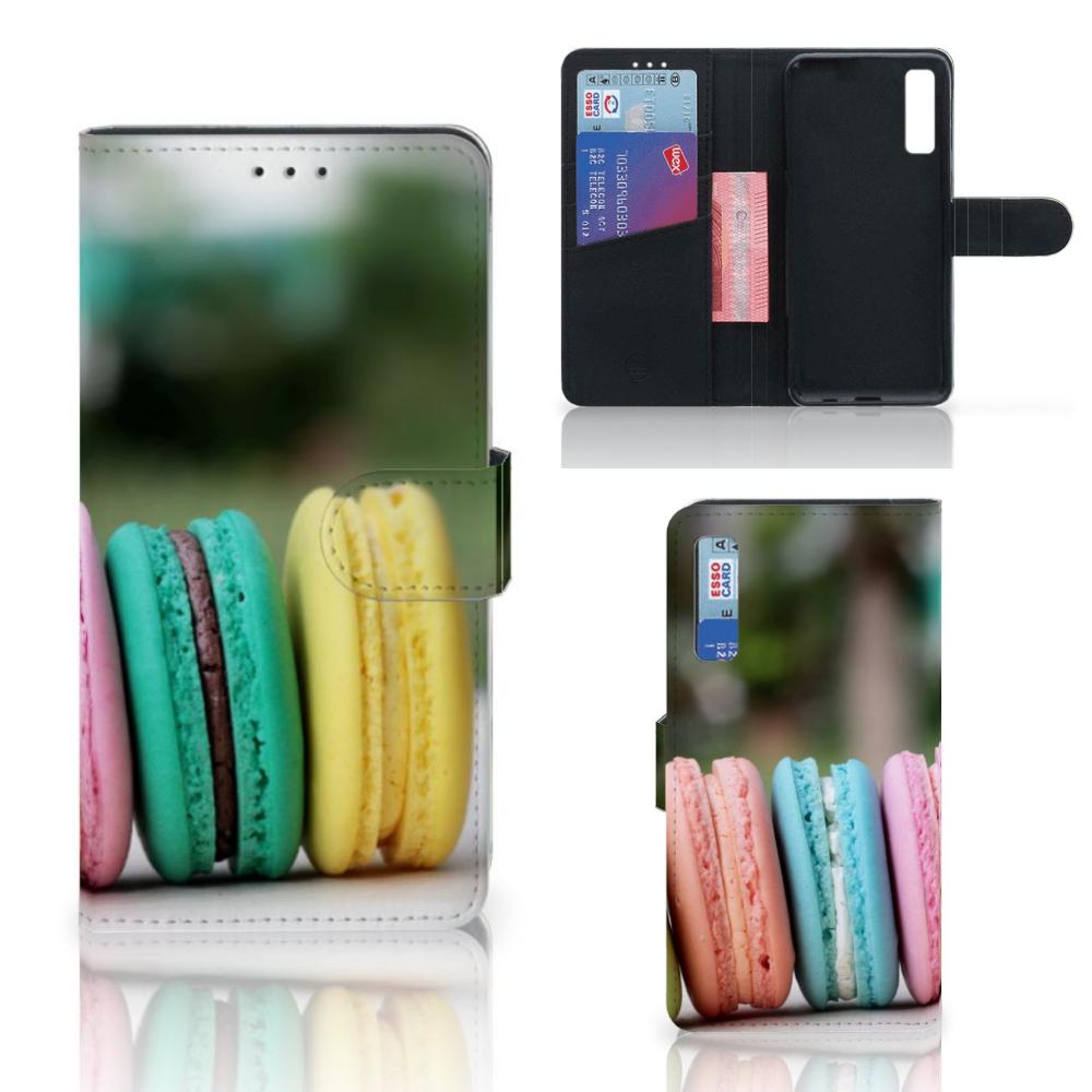 Samsung Galaxy A7 (2018) Book Cover Macarons