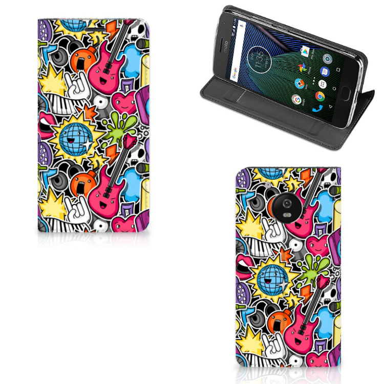 Motorola Moto G5 Hippe Standcase Punk Rock