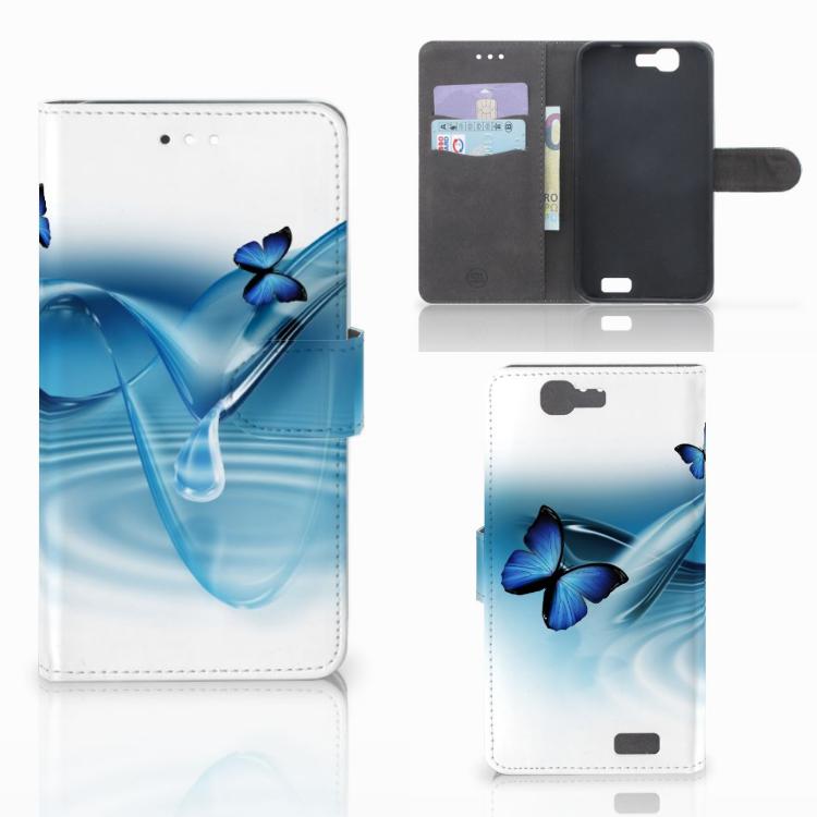 Huawei Ascend G7 Telefoonhoesje met Pasjes Vlinders