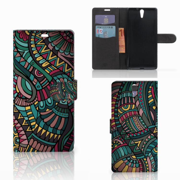 Sony Xperia C5 Ultra Telefoon Hoesje Aztec