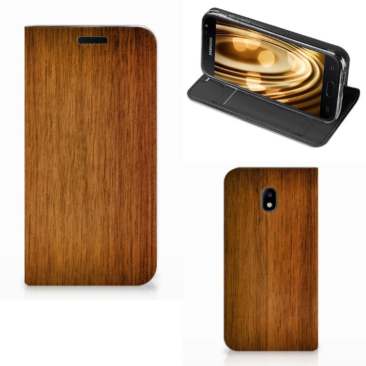 Samsung Galaxy J3 2017 Book Wallet Case Donker Hout