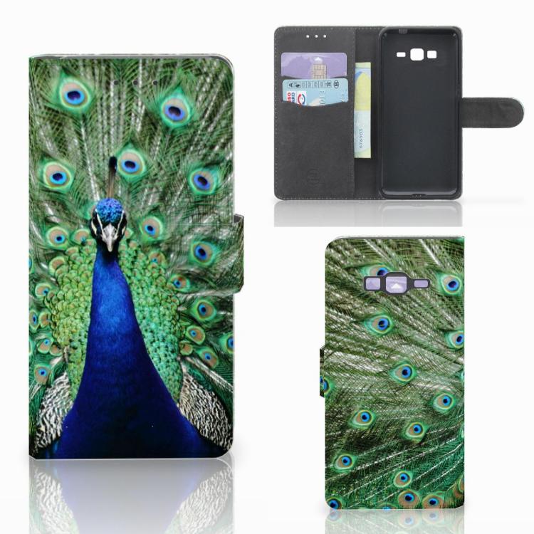 Samsung Galaxy Grand Prime | Grand Prime VE G531F Telefoonhoesje met Pasjes Pauw