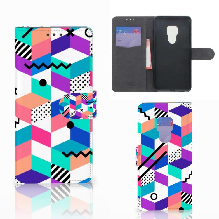 Huawei Mate 20 Bookcase Blokken Kleurrijk