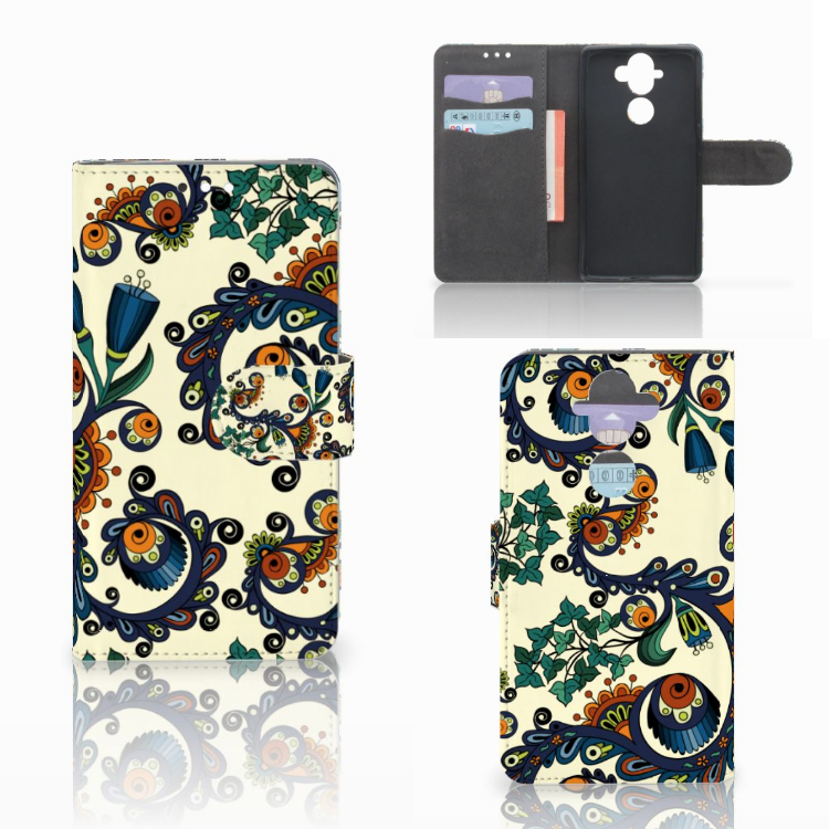 Wallet Case Nokia 8 Sirocco | Nokia 9 Barok Flower