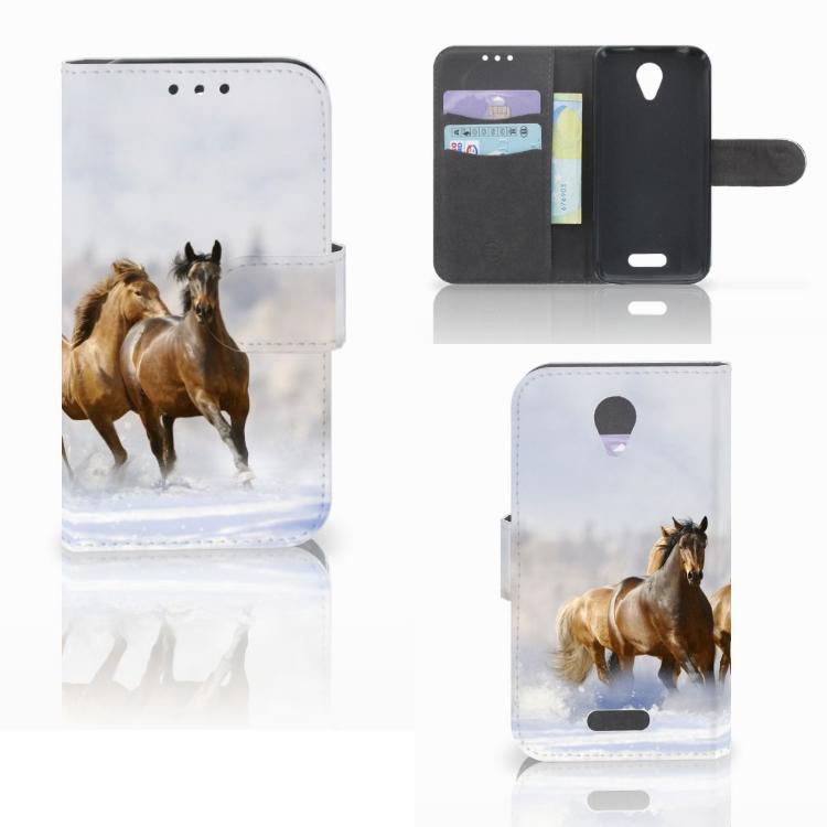 Lenovo B Telefoonhoesje met Pasjes Paarden