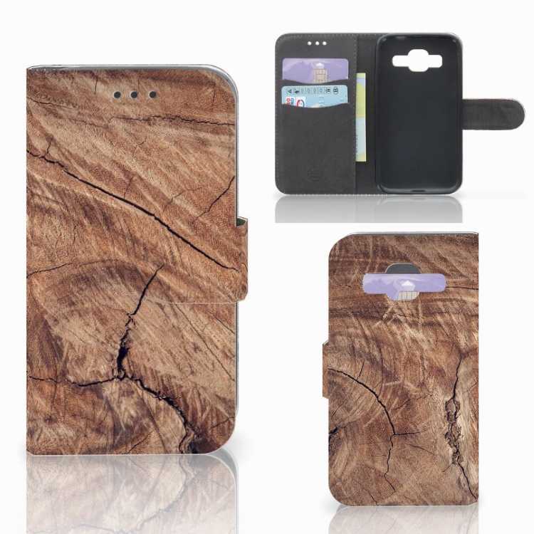 Samsung Galaxy Core Prime Book Style Case Tree Trunk