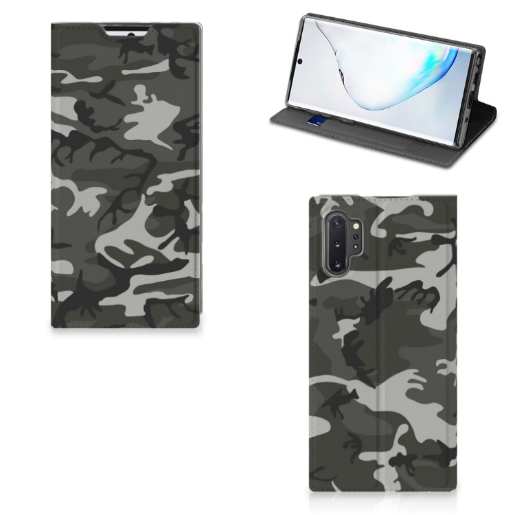 Samsung Galaxy Note 10 Plus Hoesje met Magneet Army Light