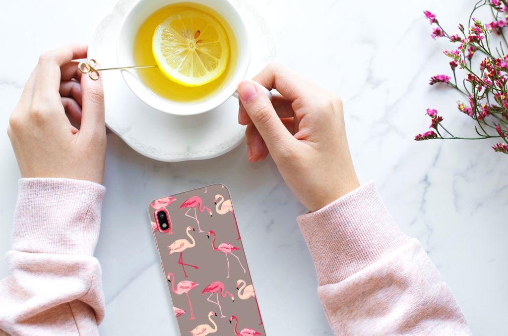 Samsung Galaxy A10 TPU Hoesje Flamingo