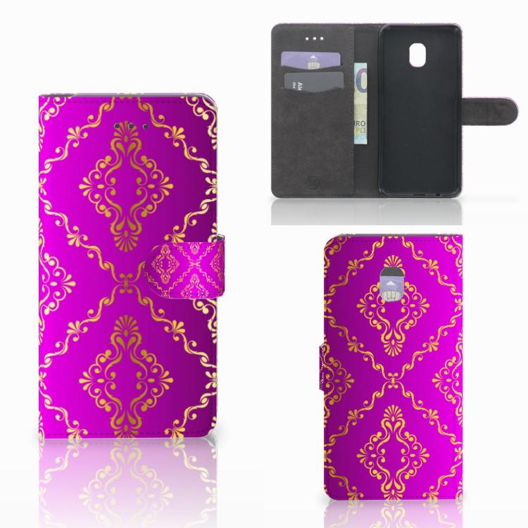 Wallet Case Samsung Galaxy J7 (2018) Barok Roze