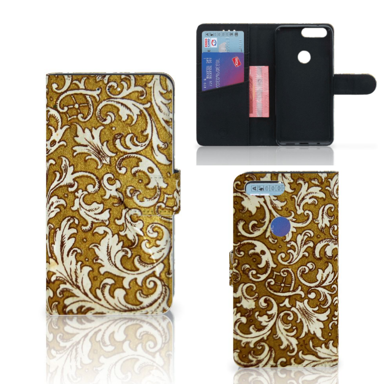 Wallet Case OnePlus 5T Barok Goud