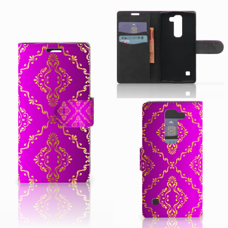 Wallet Case LG Spirit Barok Roze