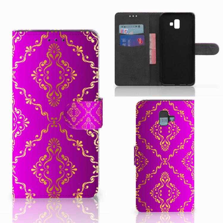 Wallet Case Samsung Galaxy J6 Plus (2018) Barok Roze
