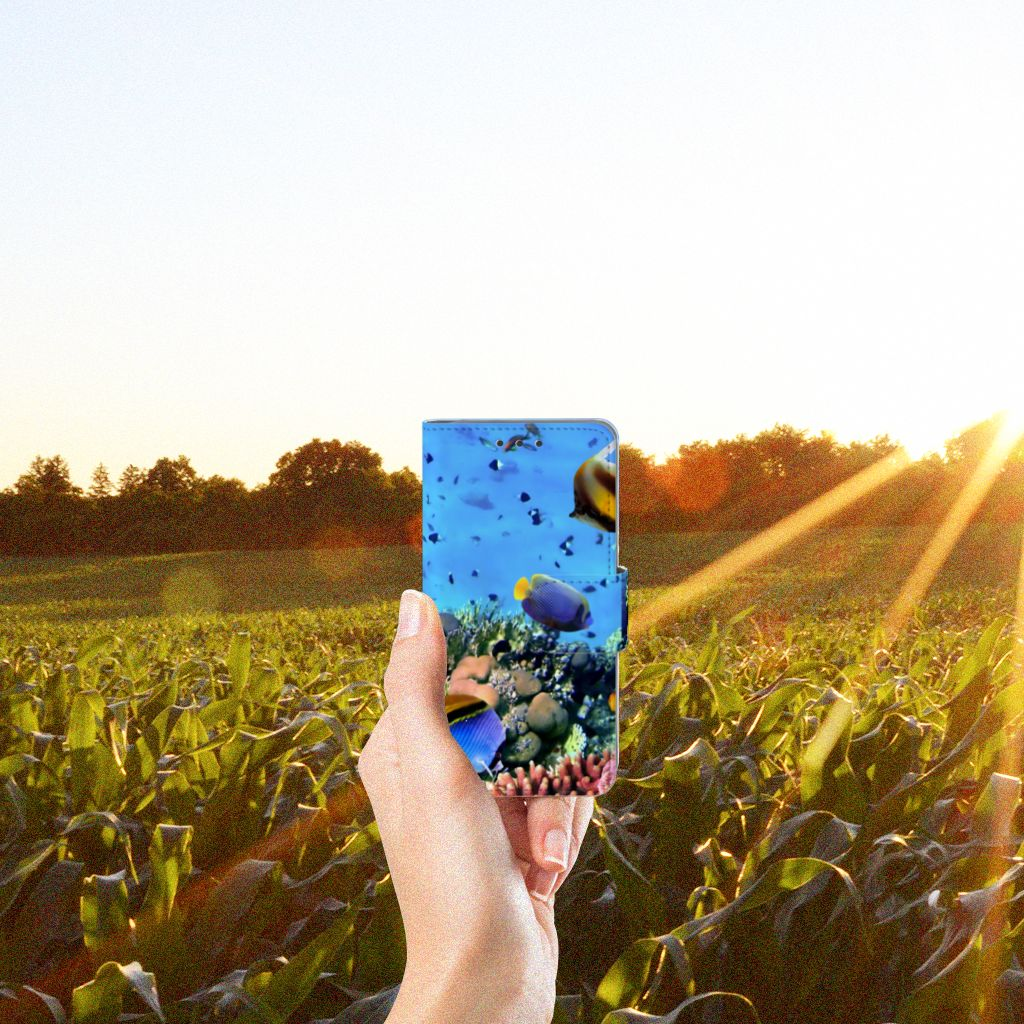 Samsung Galaxy A3 2015 Telefoonhoesje met Pasjes Vissen