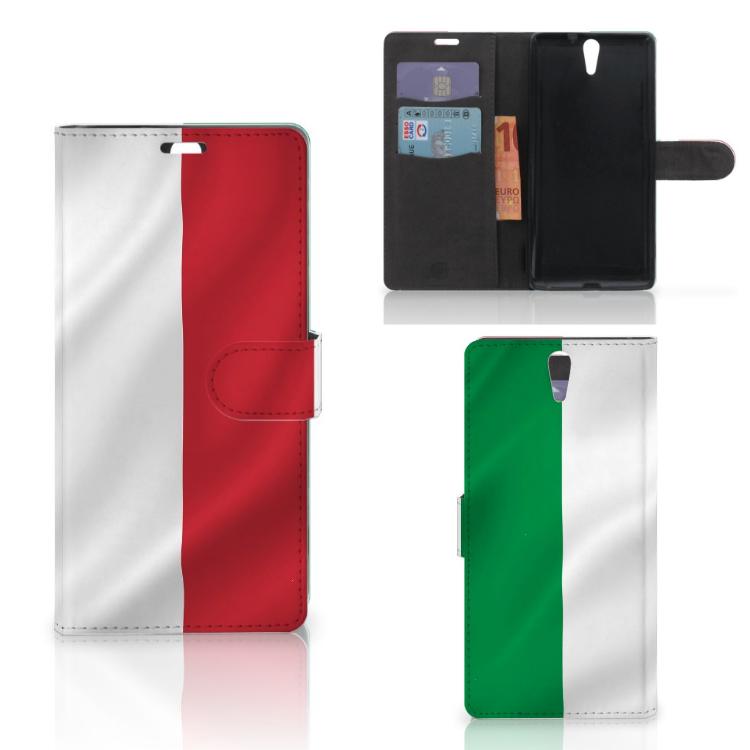 Sony Xperia C5 Ultra Bookstyle Case Italië