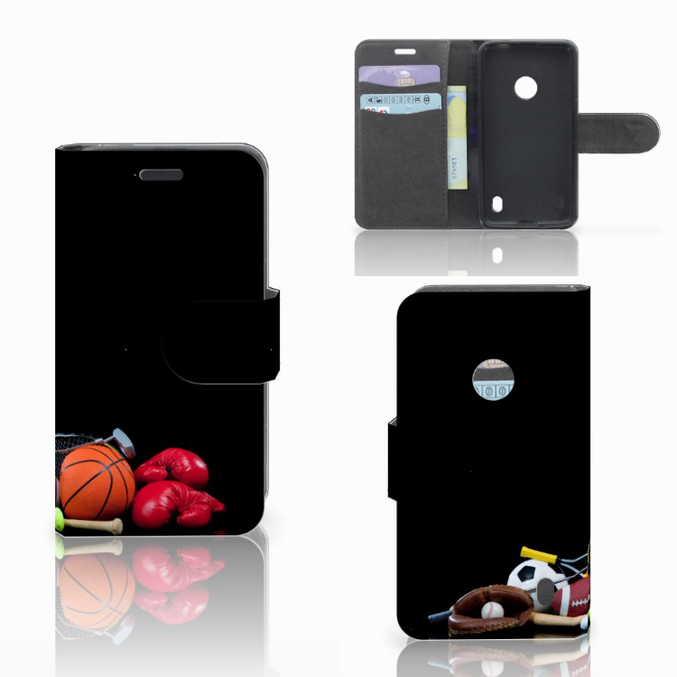 Nokia Lumia 520 Uniek Boekhoesje Opbergvakjes Sport