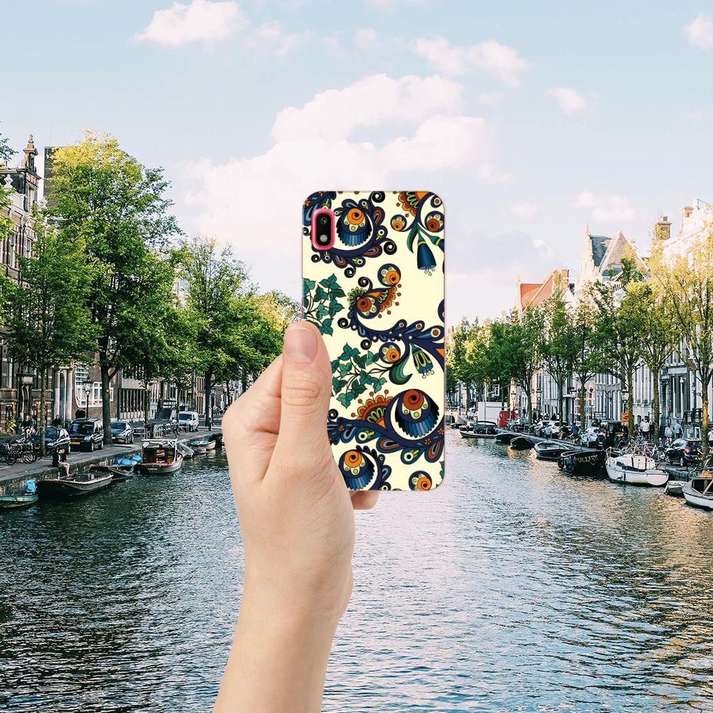 Siliconen Hoesje Samsung Galaxy A10 Barok Flower
