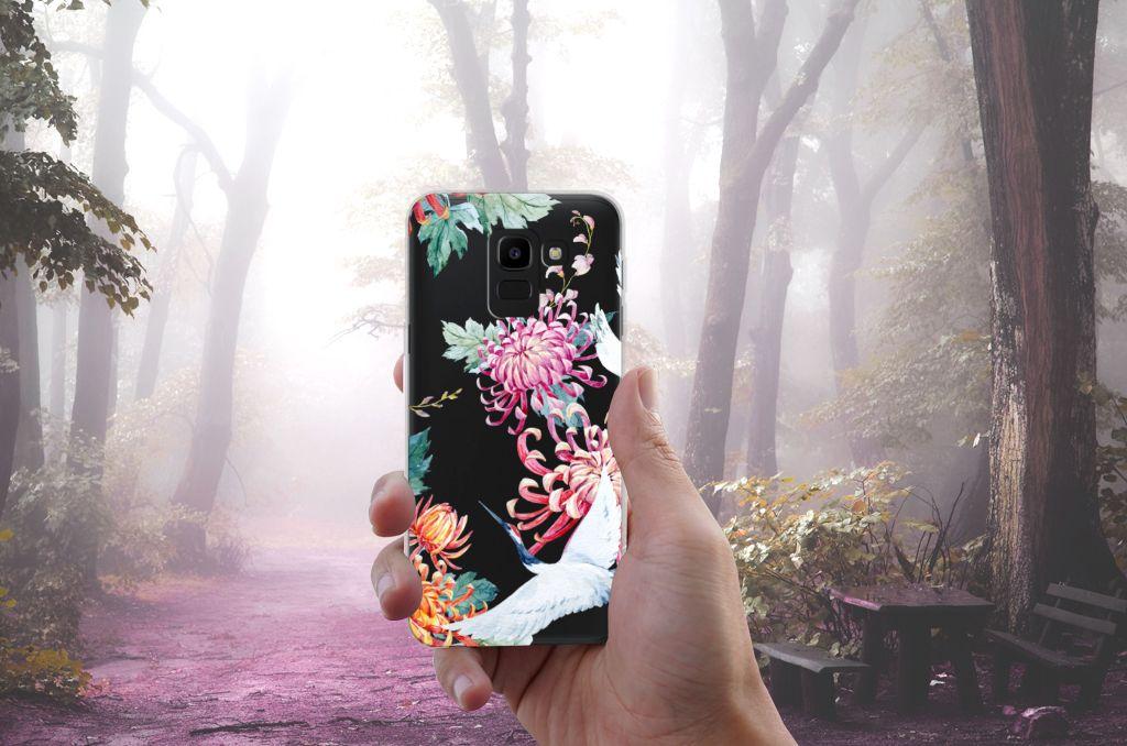 Samsung Galaxy J6 2018 TPU Hoesje Bird Flowers
