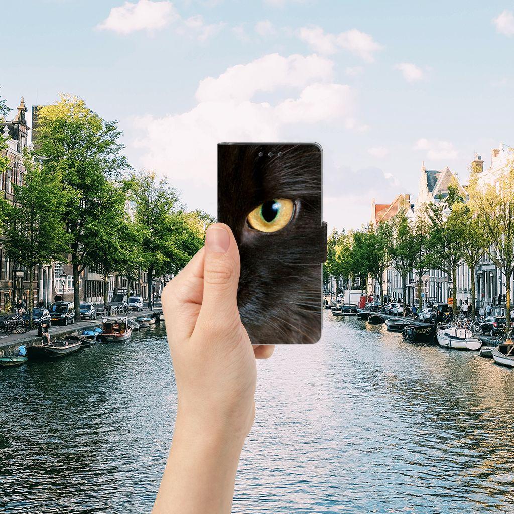 Sony Xperia X Telefoonhoesje met Pasjes Zwarte Kat