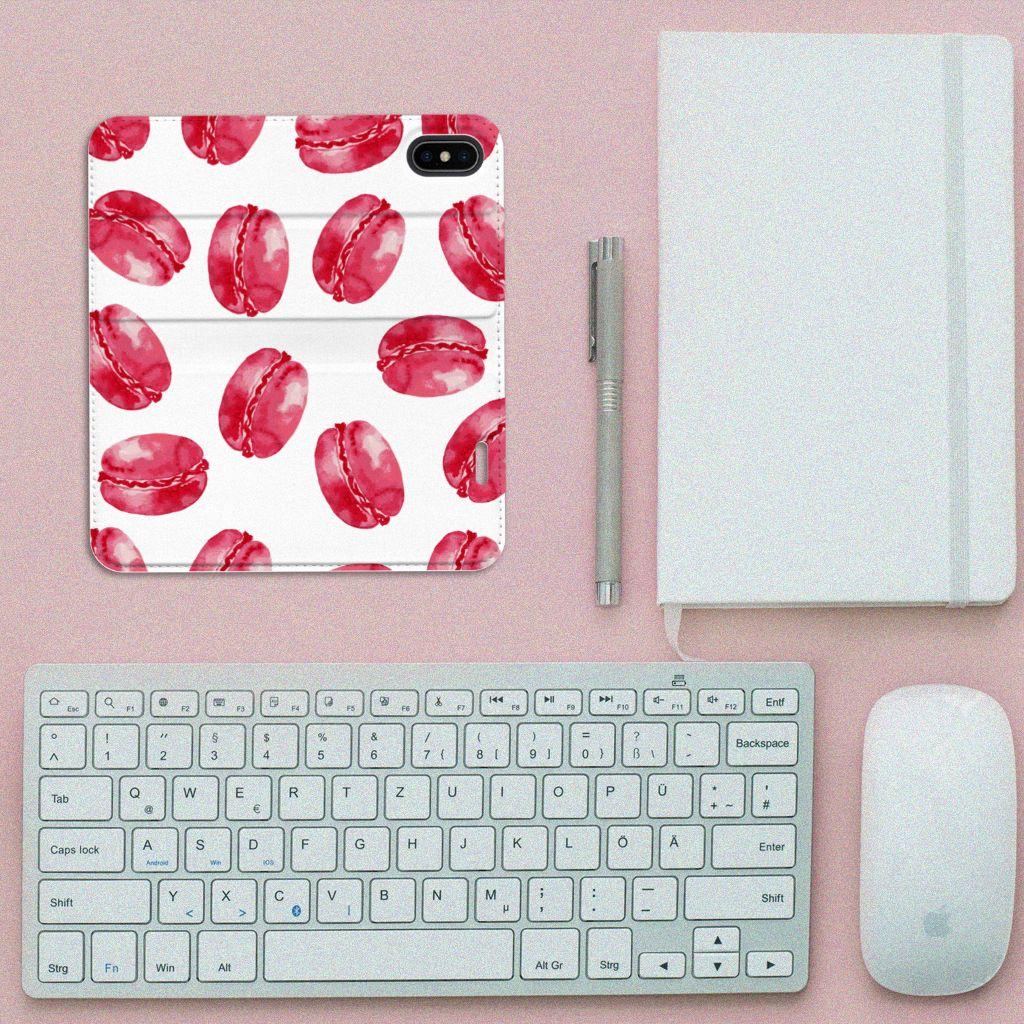 Apple iPhone X | Xs Standcase Hoesje Design Pink Macarons