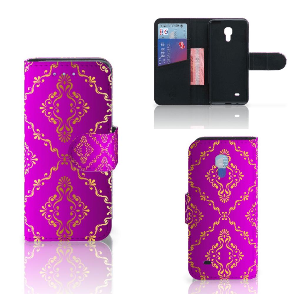Wallet Case Samsung Galaxy S4 Mini i9190 Barok Roze