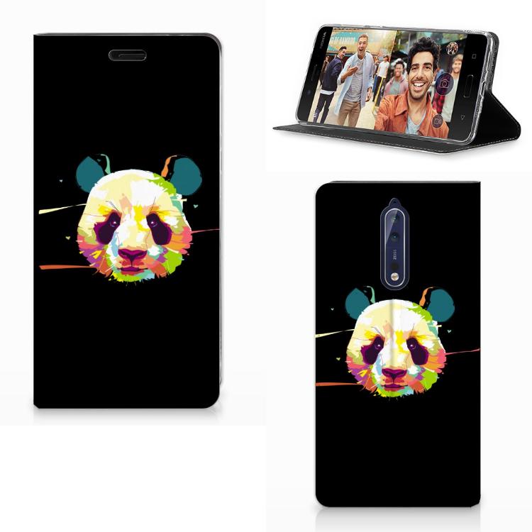 Nokia 8 Magnet Case Panda Color