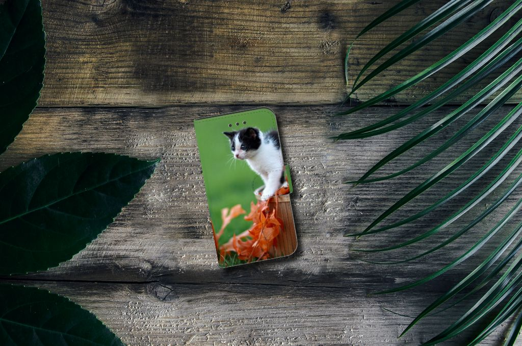 Samsung Galaxy Xcover 3 | Xcover 3 VE Telefoonhoesje met Pasjes Kitten