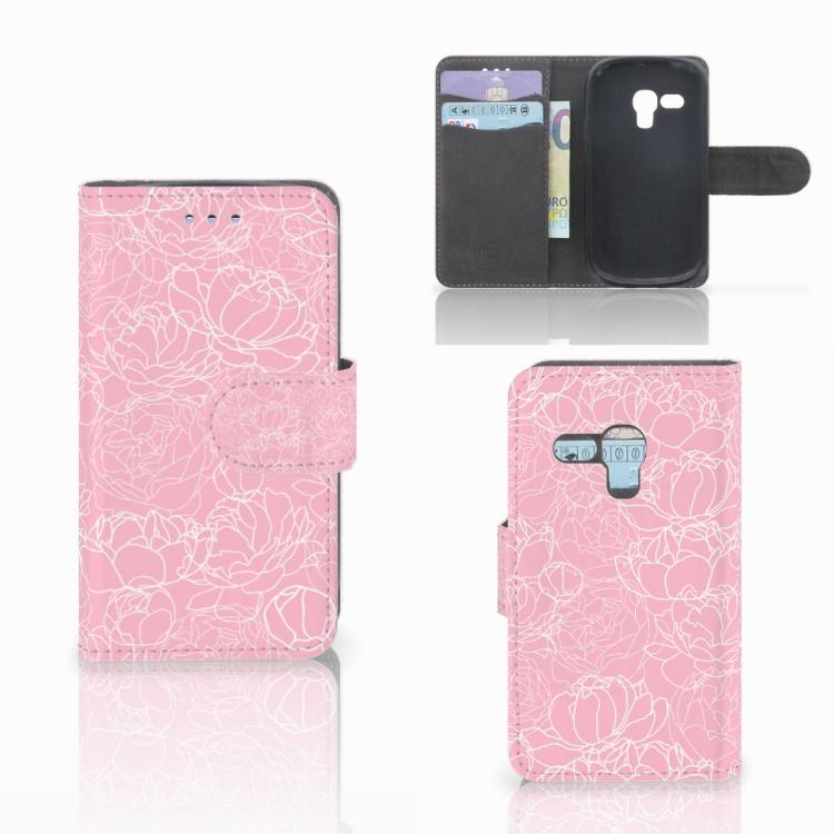 Samsung Galaxy S3 Mini Wallet Case White Flowers