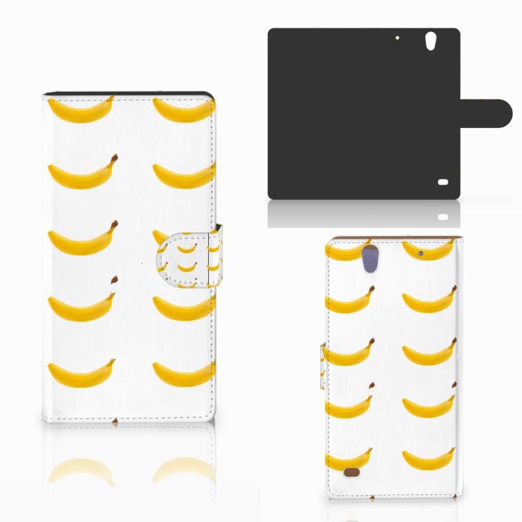 Sony Xperia C4 Book Cover Banana