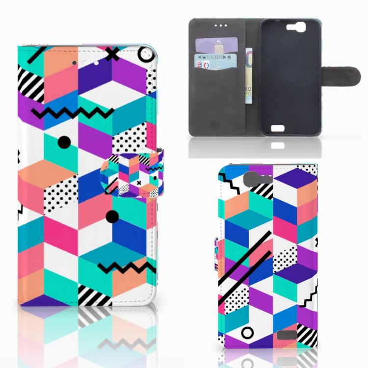 Huawei Ascend G7 Bookcase Blokken Kleurrijk