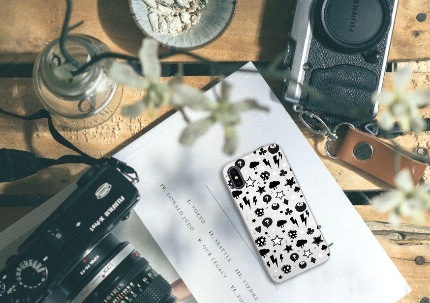 Apple iPhone X | Xs Uniek TPU Hoesje Silver Punk