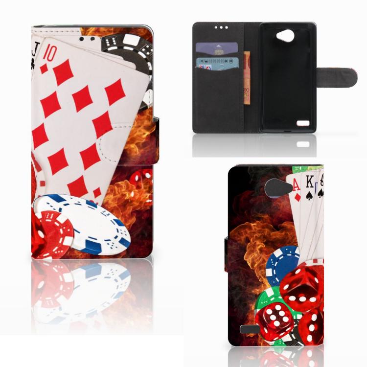 LG Bello 2 Wallet Case met Pasjes Casino