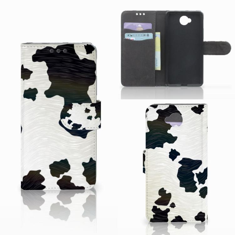 Microsoft Lumia 650 Telefoonhoesje met Pasjes Koeienvlekken