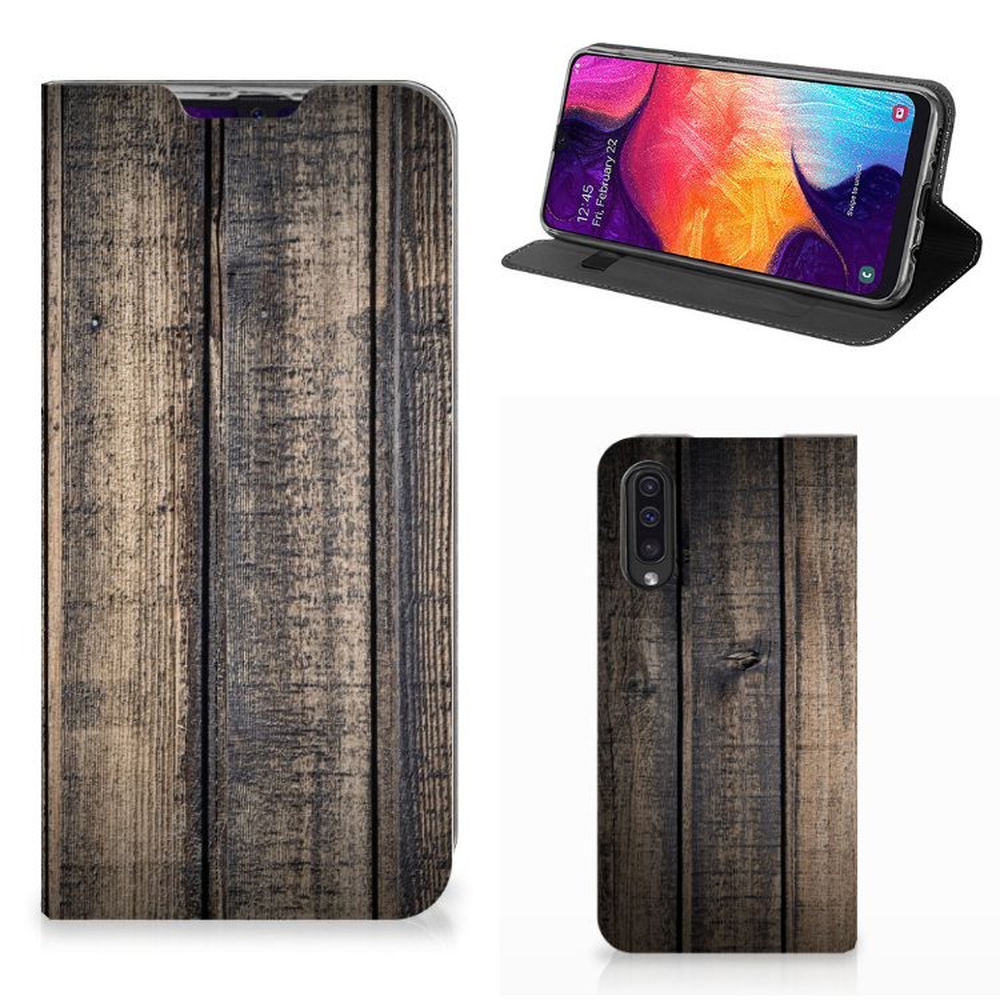 Samsung Galaxy A50 Book Wallet Case Steigerhout
